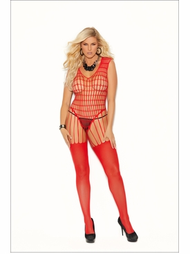 Elegant Moments 12021Q Crochet Net Bodystocking
