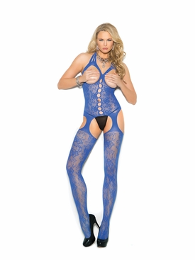 Elegant Moments 1304 Bodystocking With Open Bust