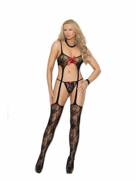 Elegant Moments 1332 Lace Suspender Bodystocking