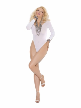 Elegant Moments 1436 Long Sleeve Opaque Teddy