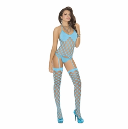 Elegant Moments 1469 Net Camisette with G-String and Stockings