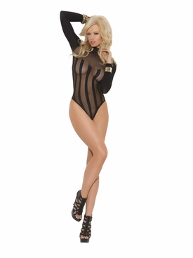 Elegant Moments 1539 Long Sleeve Opaque Teddy