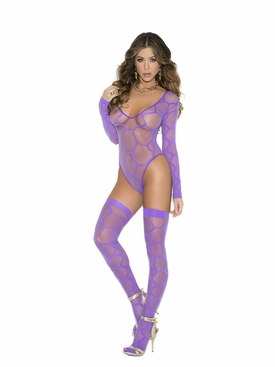 Elegant Moments 1542 Hexagon Pattern Teddy With Stockings
