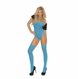 Elegant Moments 1569 Lace Teddy with Thigh Hi's