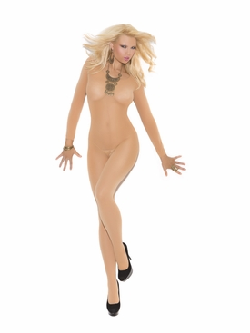 Elegant Moments 1606 Opaque Long Sleeve Bodystocking