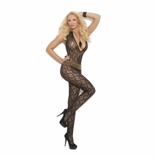 Elegant Moments 1608 Deep V Lace Bodystocking