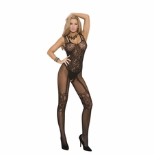 Elegant Moments 1689 Fishnet and Lace Bodystocking