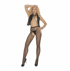 Elegant Moments 1711 Fishnet Suspender Pantyhose