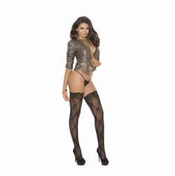Elegant Moments 1792 Lace Thigh Hi with Back Seam