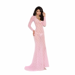 Elegant Moments 1949 Long Sleeve Lace Gown
