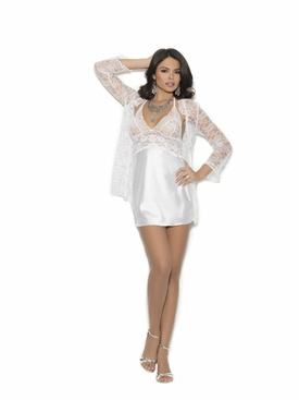 Elegant Moments 4246 Charmeuse Chemise With Jacket