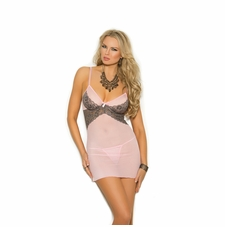 Elegant Moments 4293 Mesh Babydoll With Underwire Cups