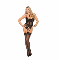 Elegant Moments 4306 Mesh And Lace Bustier
