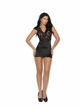 Elegant Moments 4344 Charmeuse And Lace Chemise