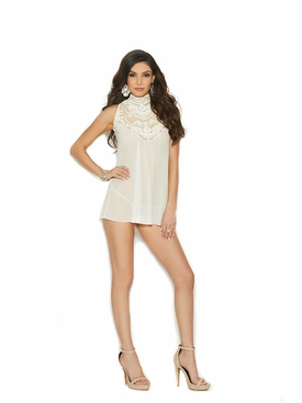 Elegant Moments 44001 Mock Neck Babydoll
