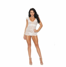 Elegant Moments 44020 Lace Babydoll With G-String