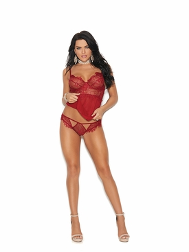 Elegant Moments 44023 Underwire Mesh Babydoll