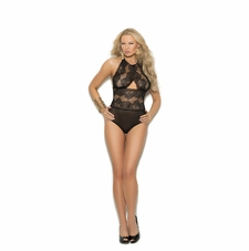 Elegant Moments 7239 Lacy Teddy W/Keyhole Front