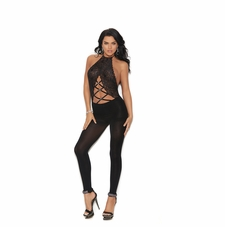 Elegant Moments 82182 Halter Neck Footless Bodystocking