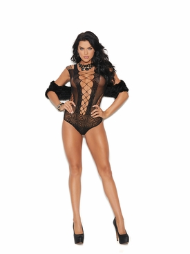 Elegant Moments 82197 Crochet Lace Teddy