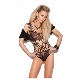 Elegant Moments 8722 Lace Teddy with Cutout Details