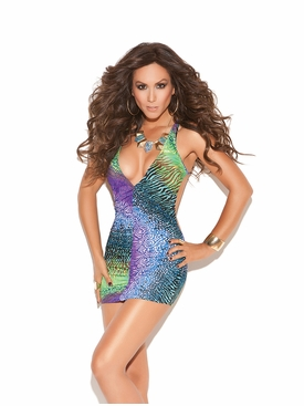 Elegant Moments 8734 Multi Color Mini Dress