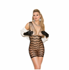 Elegant Moments 88001 Vertical Striped Mini Dress