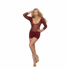 Elegant Moments 88053 Lace And Lycra Mini Dress