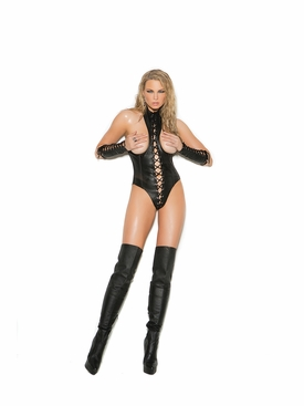Elegant Moments L2268 Leather Cupless Teddy