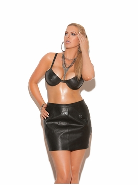 Elegant Moments L6118 Leather Spanking Mini Skirt