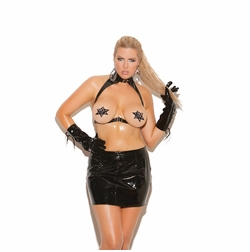 Elegant Moments L9102 Leather Star Pasties W/Nail Heads