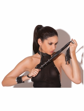 Elegant Moments L9154 Leather Whip W/Studs