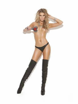 Elegant Moments L9202 Sexy Leather Thong
