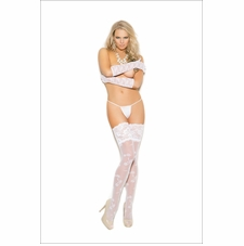 Elegant Moments Lace Thigh Hi With 5 Inch Lace Top Stockings