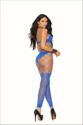 Elegant Moments 12034 Opaque & Net Footless Bodystocking