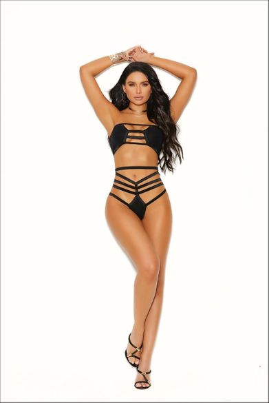 Elegant Moments Opaque Bralette Top And Matching Thong