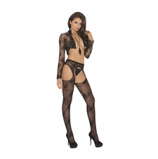 Elegant Moments1895 Lace Suspender Pantyhose