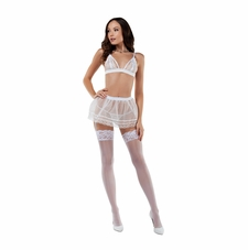 Exquisite Encounter Lacy Bra And Tulle Skirt