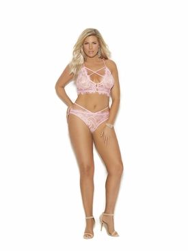 Eyelash Lace Cami Top With Panty