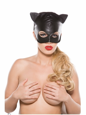 Faux Leather Cat Mask