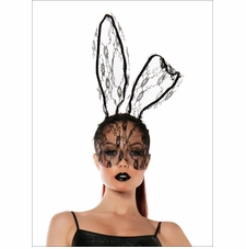 Lace Bunny Mask Headband