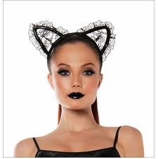 Lace Cat Ears Headband