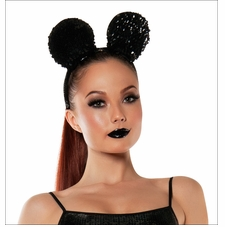 Sequined Mouse Ears Headband