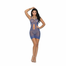 Fishnet Mini Dress With Cut Out Detail