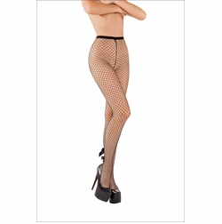 Fishnet Pantyhose with Bow