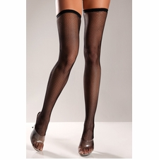 Fishnet Thigh Highs With Thin Elastic Top
