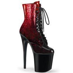 Pleaser Flamingo-1020OMB Platform Lace Up Ankle Boot