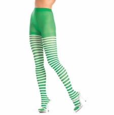 Green And White Striped Tights
