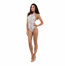 Indulgence Halter Lace Bodystocking