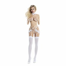 Isabelle Crotchless Panty With Garters And Matching Choker
